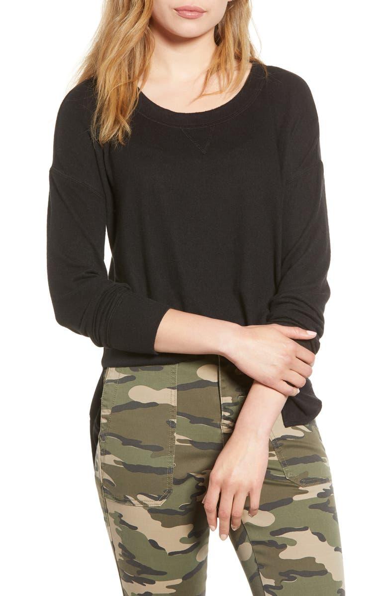 CASLON<SUP>®</SUP> Cozy Sweatshirt, Main, color, 001