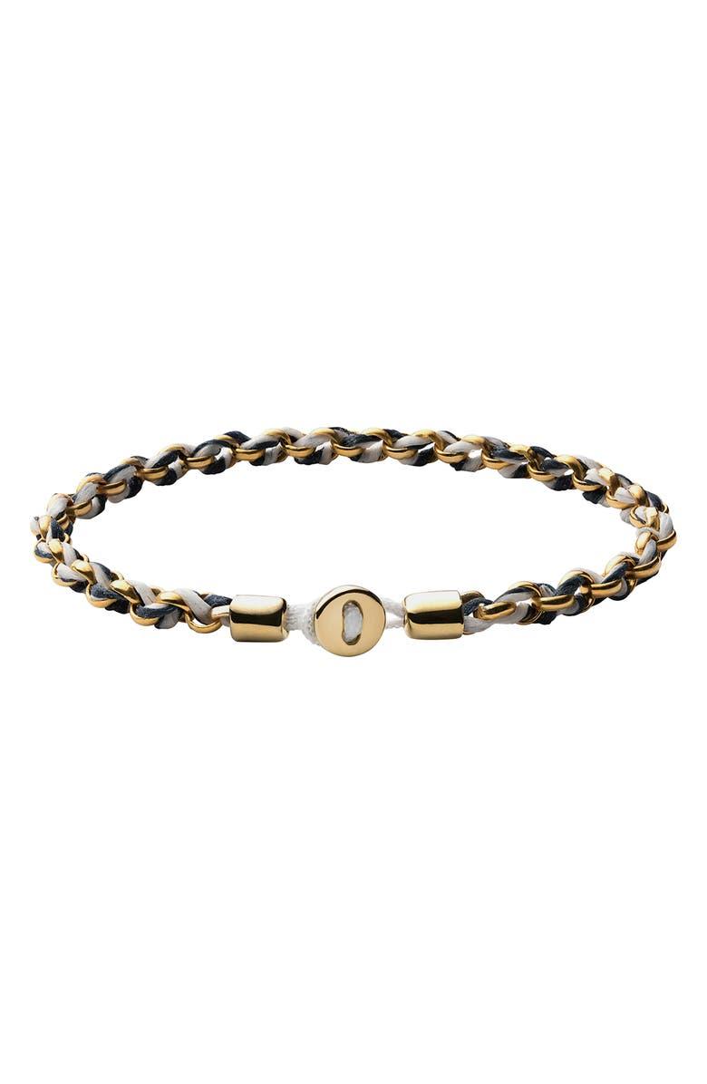 MIANSAI Nexus Chain & Rope Bracelet, Main, color, NAVY/ GOLD