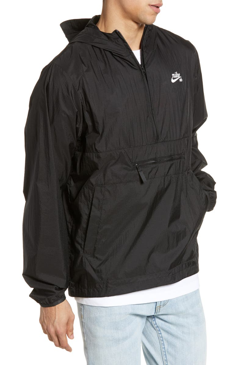 NIKE SB Packable Hooded Anorak, Main, color, 010
