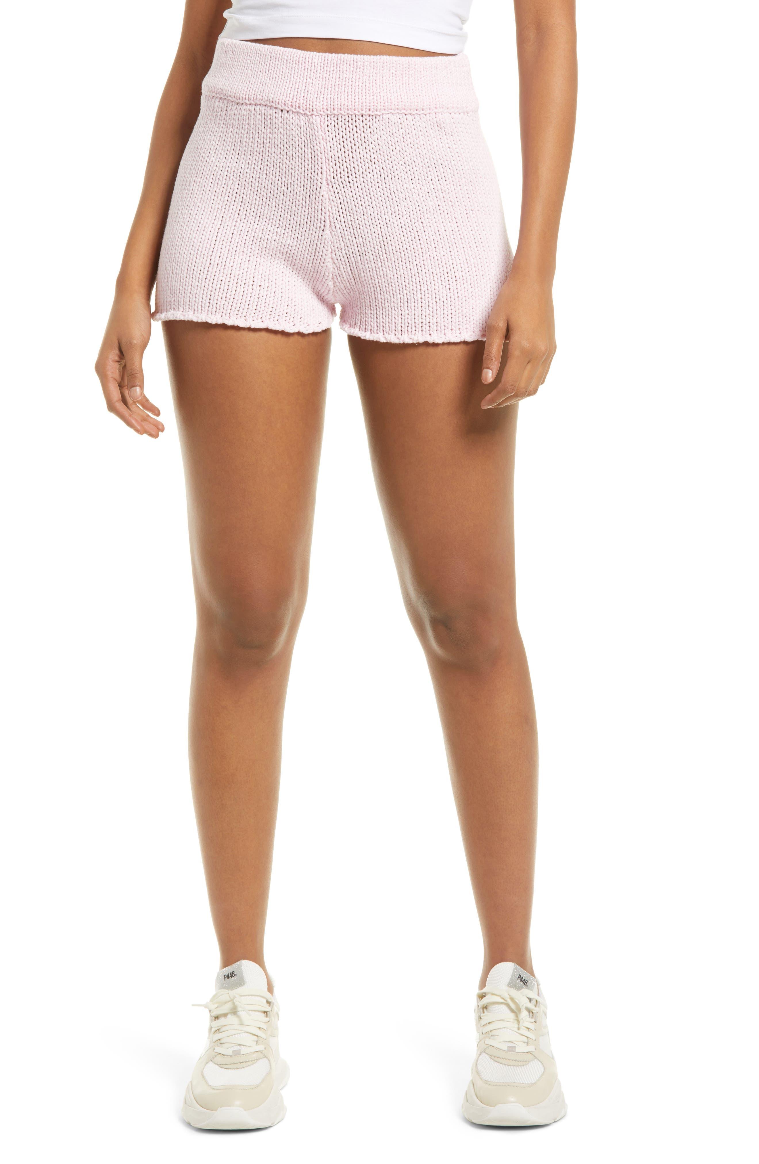 Sweater Knit Cotton Blend Shorts