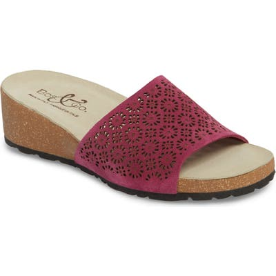Bos. & Co. Loa Wedge Slide Sandal - Pink