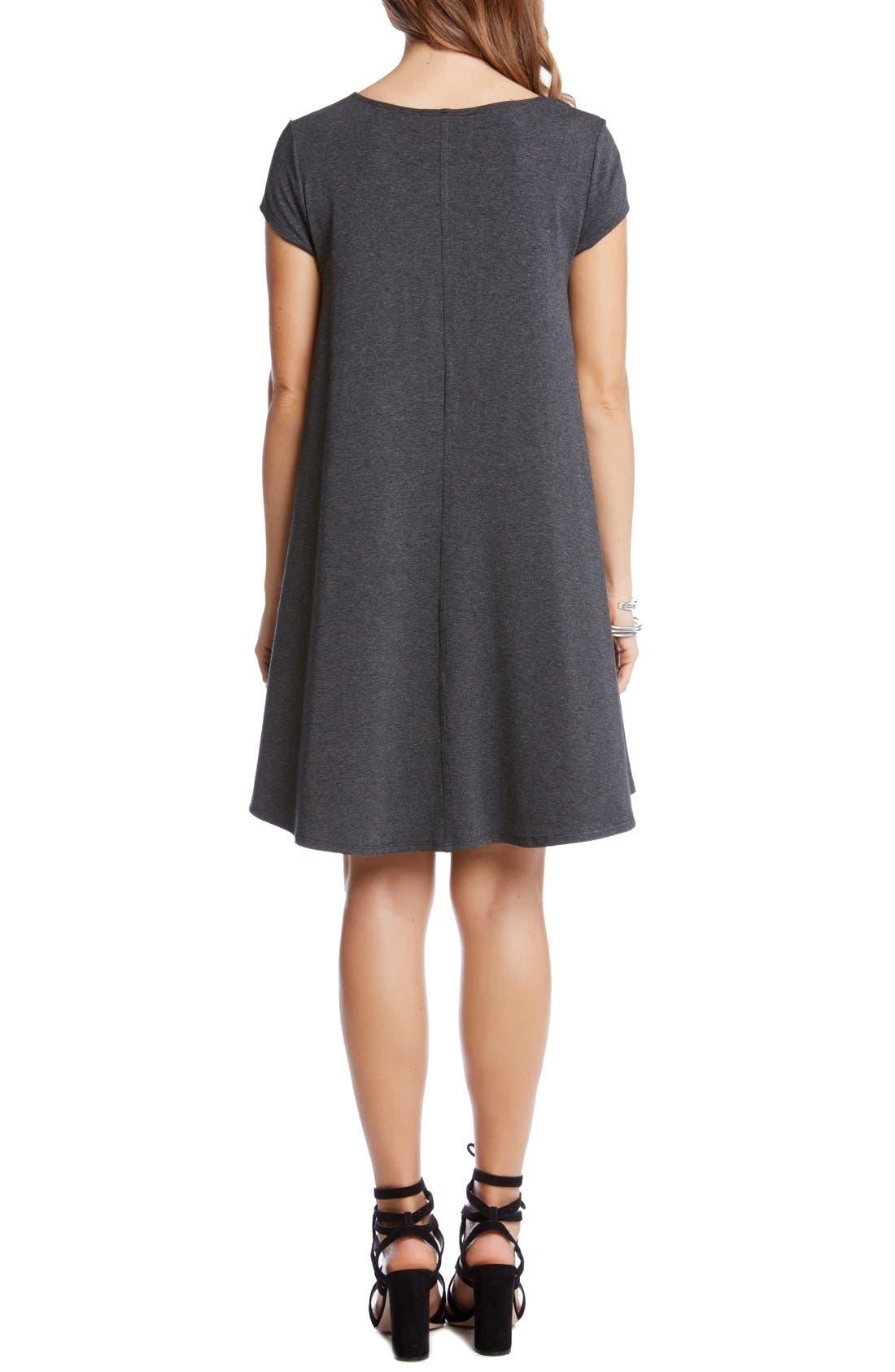 ,                             'Maggie' Cap Sleeve Trapeze Dress,                             Alternate thumbnail 4, color,                             029