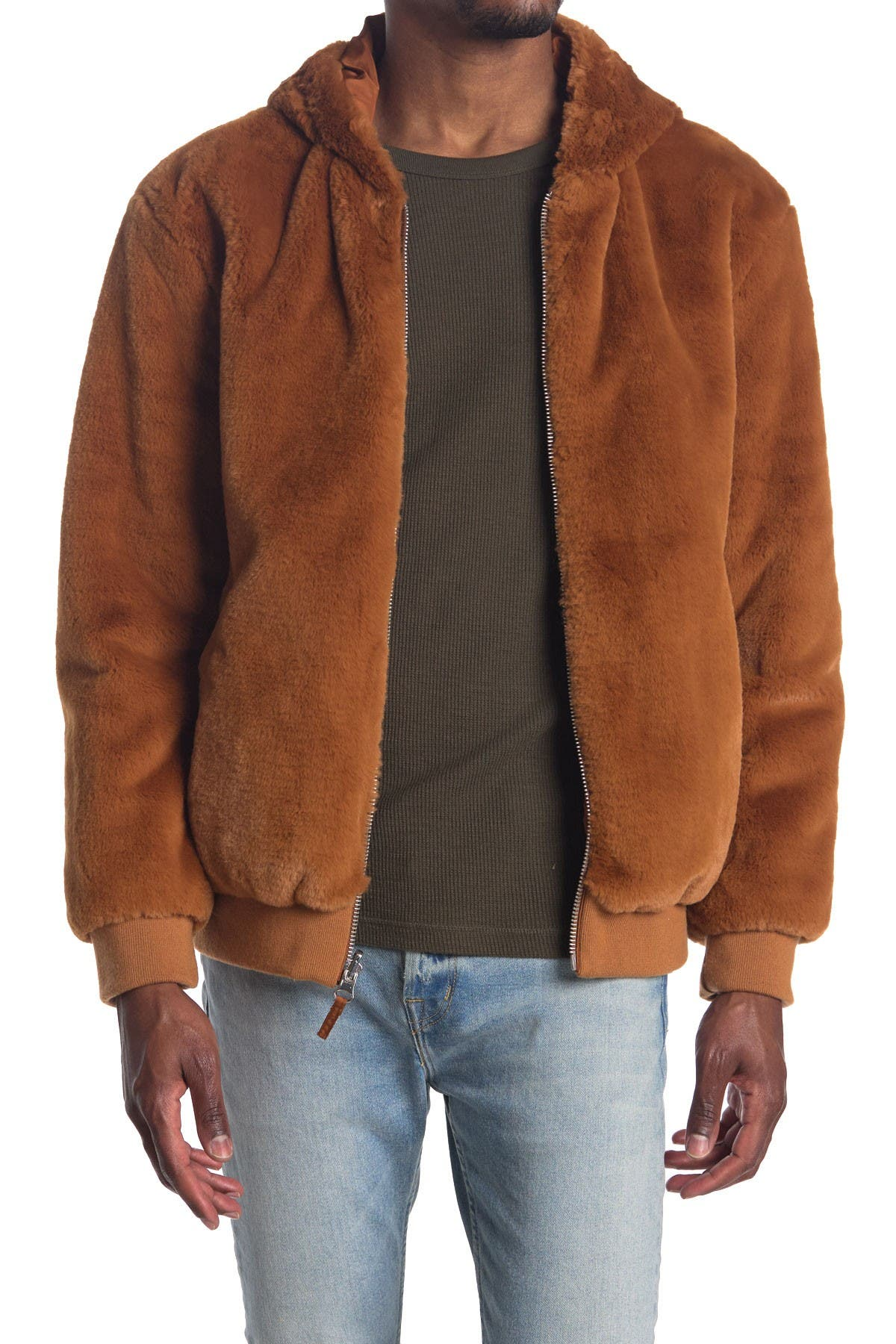 Image of Sean John Faux Shearling Zip Jacket