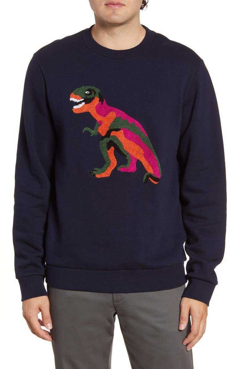 BONOBOS Bouclé Dino Sweatshirt, Main, color, DINO