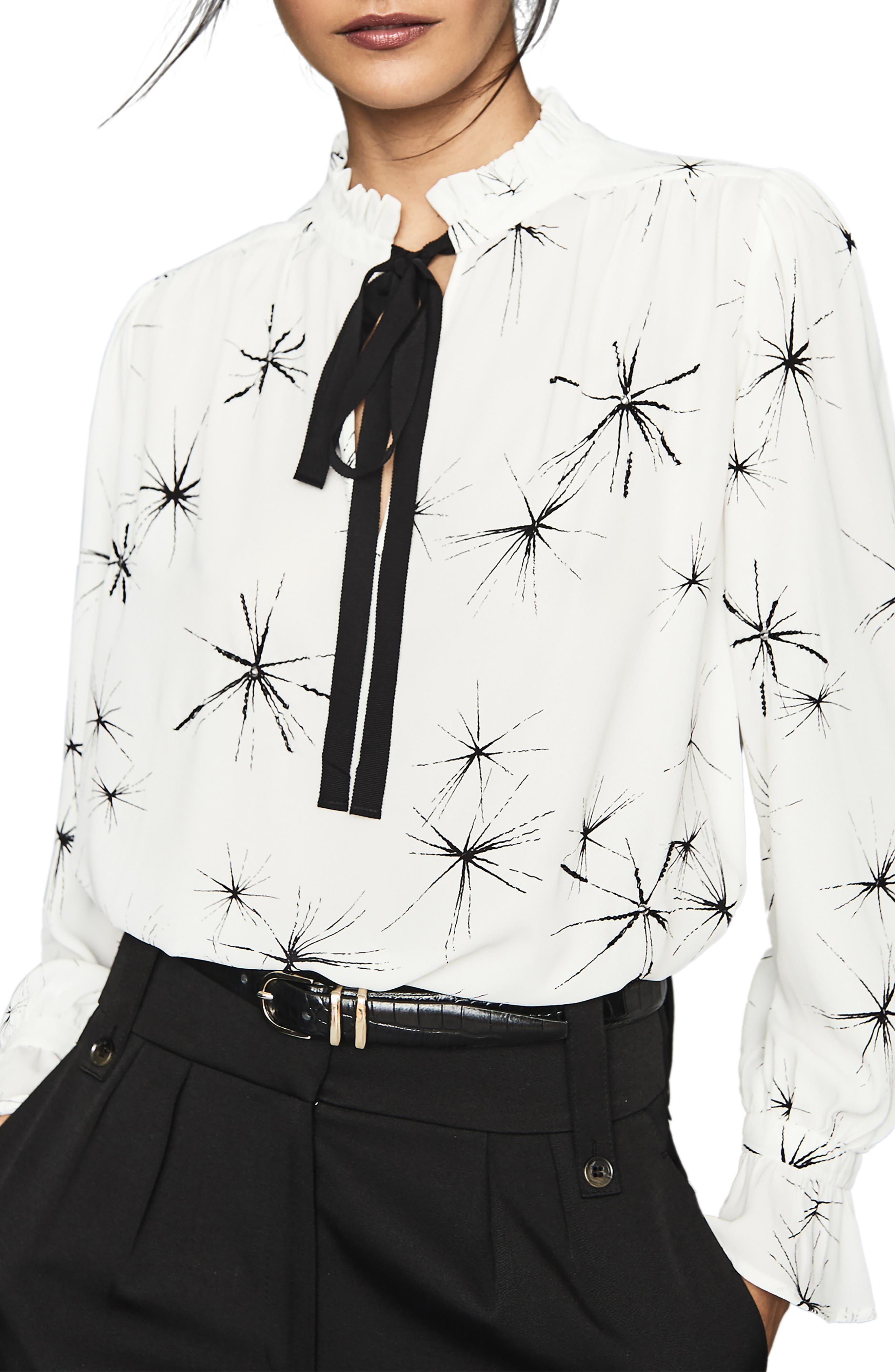 Image of REISS Maeve Twinkle Tie Blouse