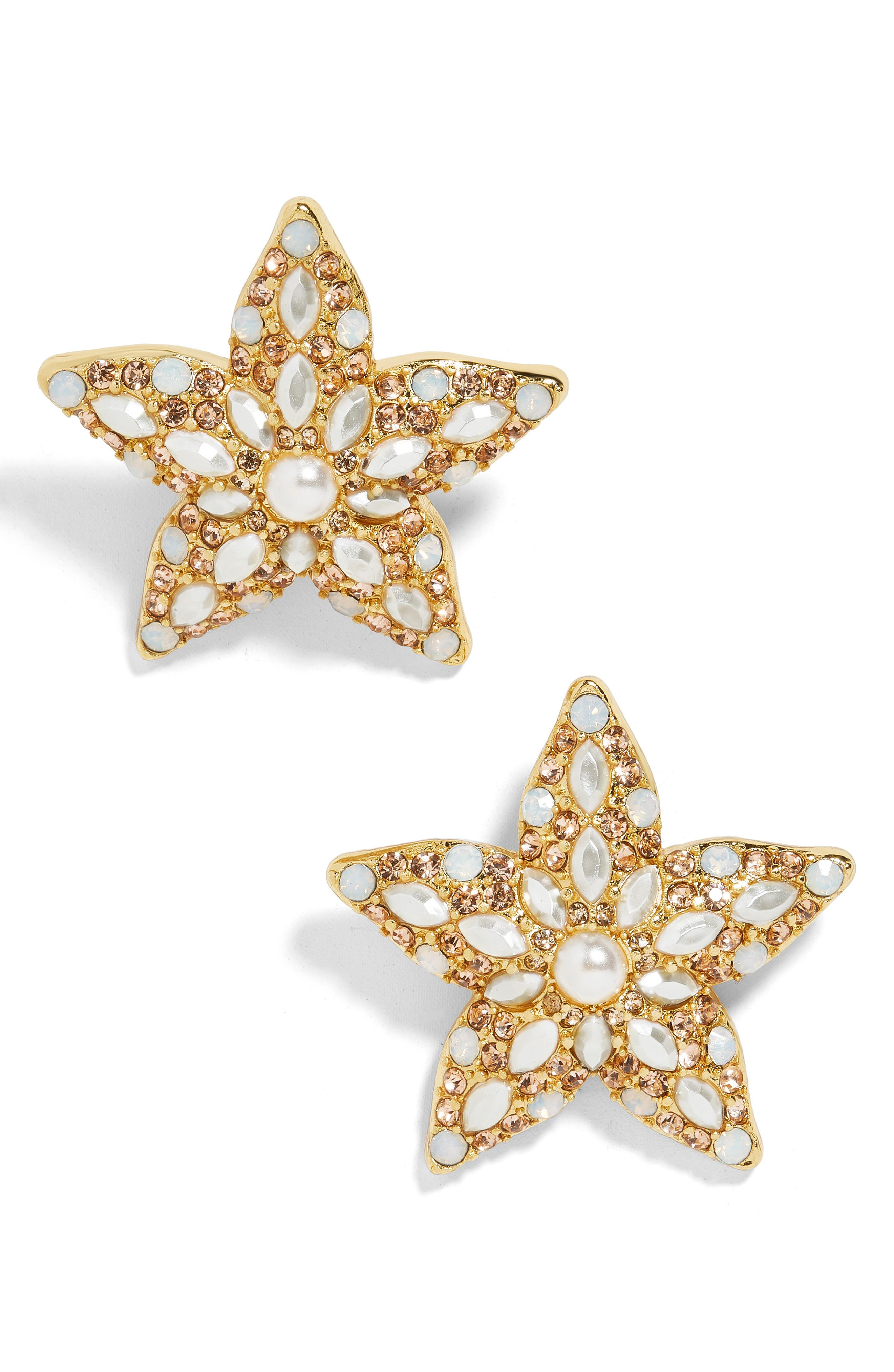 ,                             Petrina Starfish Earrings,                             Main thumbnail 1, color,                             GOLD