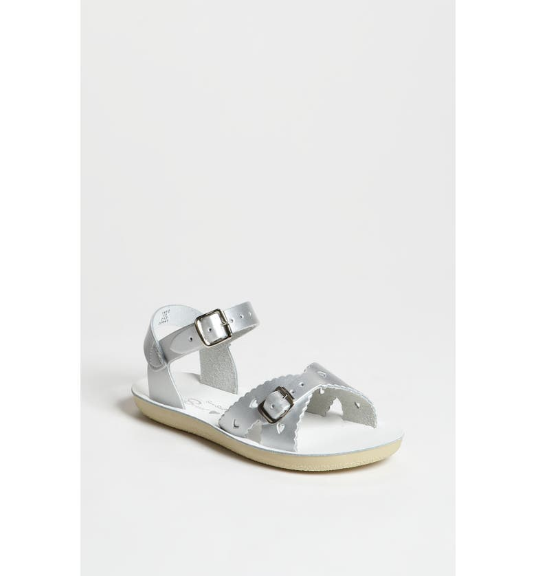 SALT WATER SANDALS BY HOY Sweetheart Sandal, Main, color, SILVER
