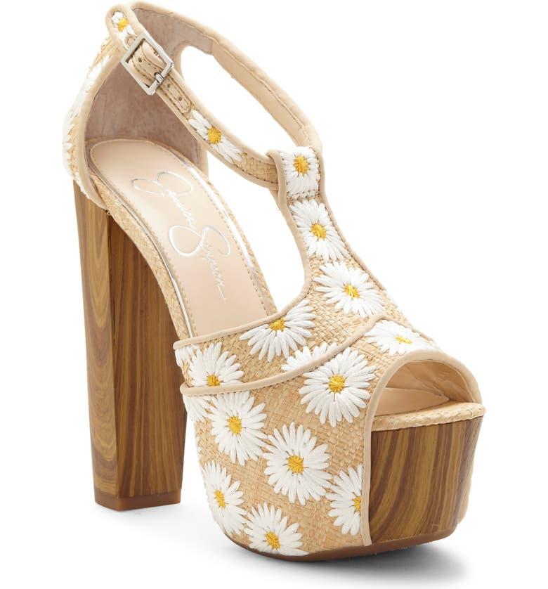 JESSICA SIMPSON 'Dany' Sandal, Main, color, WHITE COMBINATION