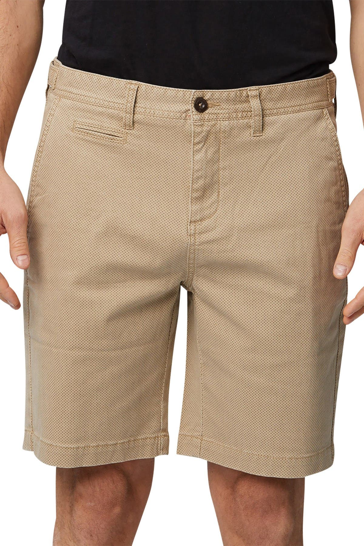 Image of Rainforest Geo Print Stretch Chino Shorts