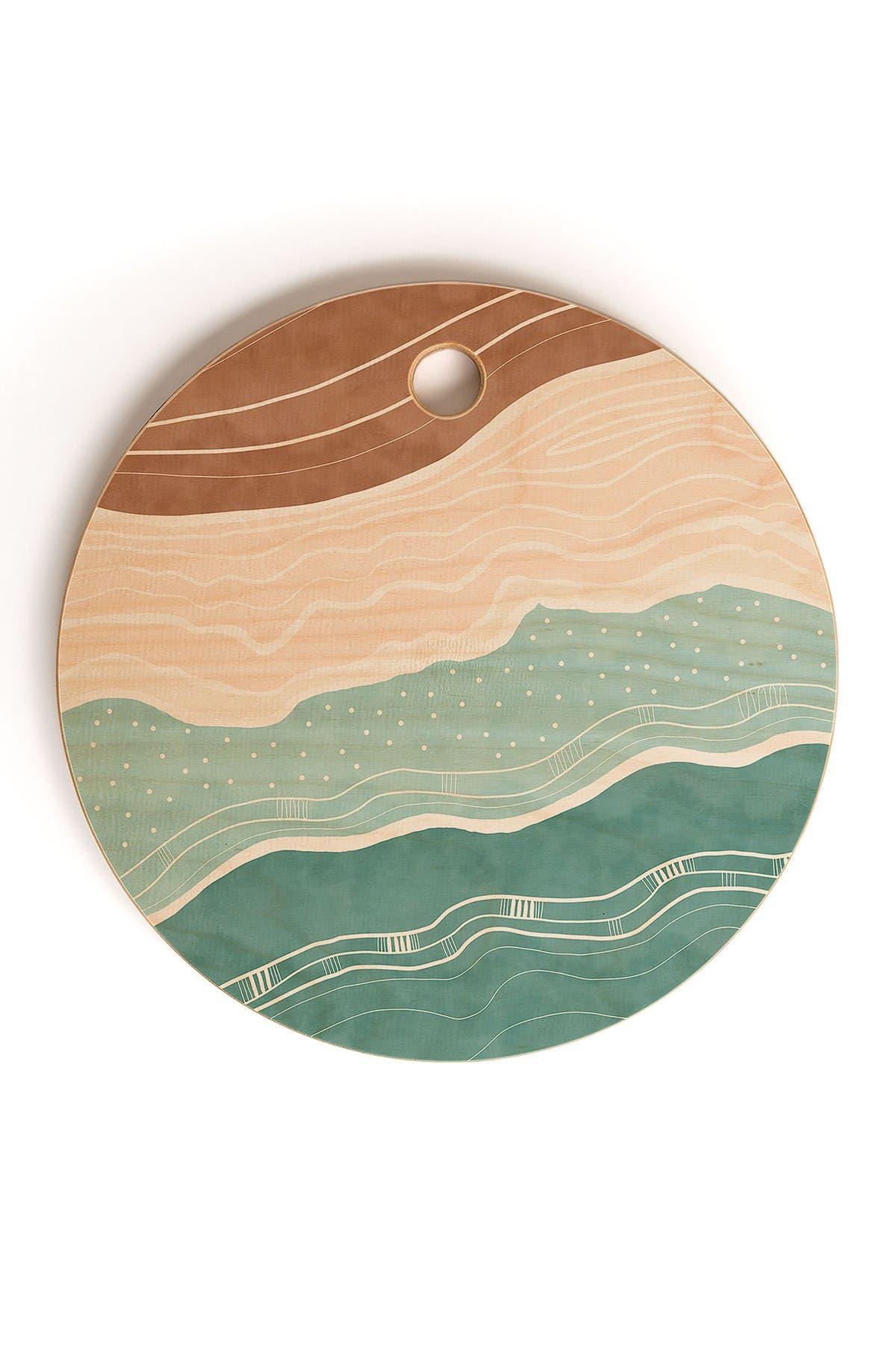 Image of Deny Designs Marta Barragan Camarasa Modern beach abstract II Round Cutting Board