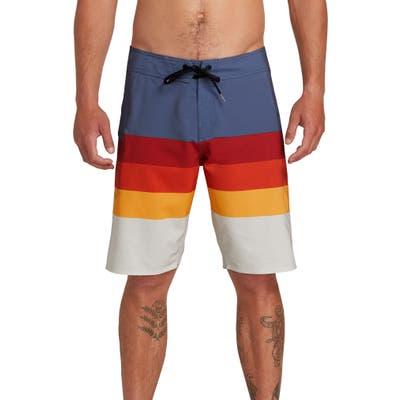 Volcom Lido Liney Stripe Board Shorts, Blue