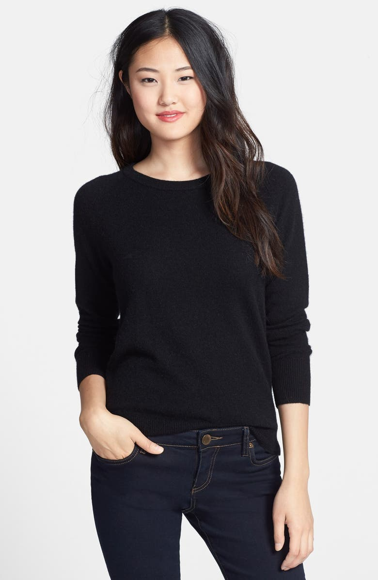 HALOGEN<SUP>®</SUP> Crewneck Cashmere Sweater, Main, color, 001