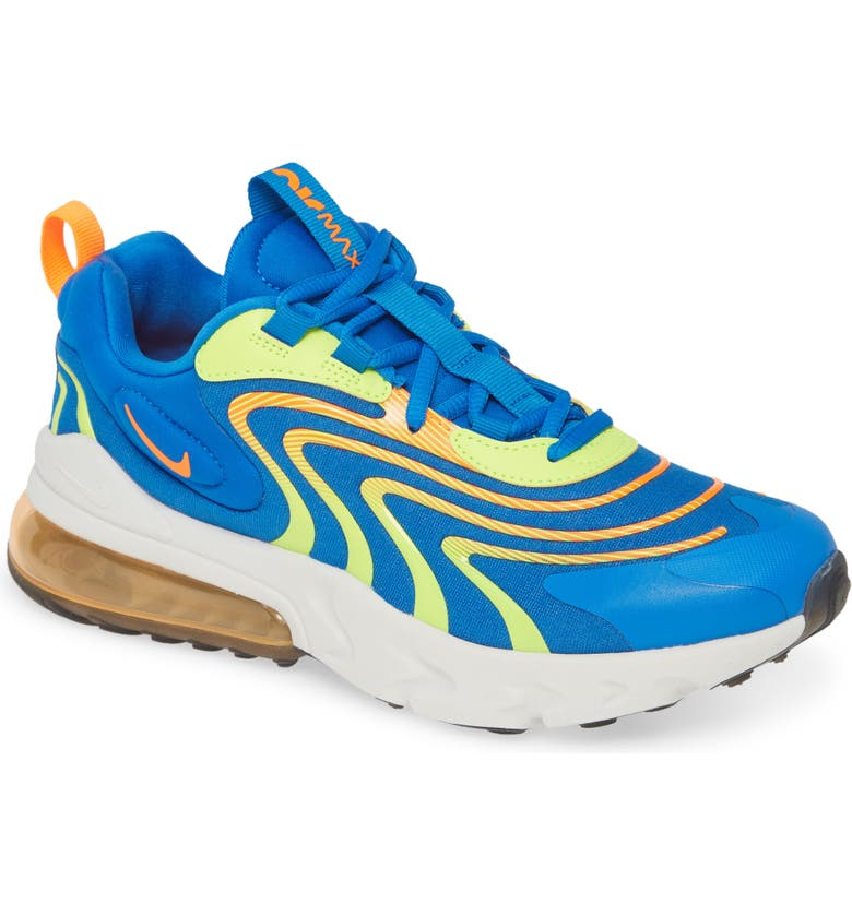NIKE Air Max React 270 ENG Sneaker, Main, color, SOAR/ ORANGE/ VOLT/ PLATINUM