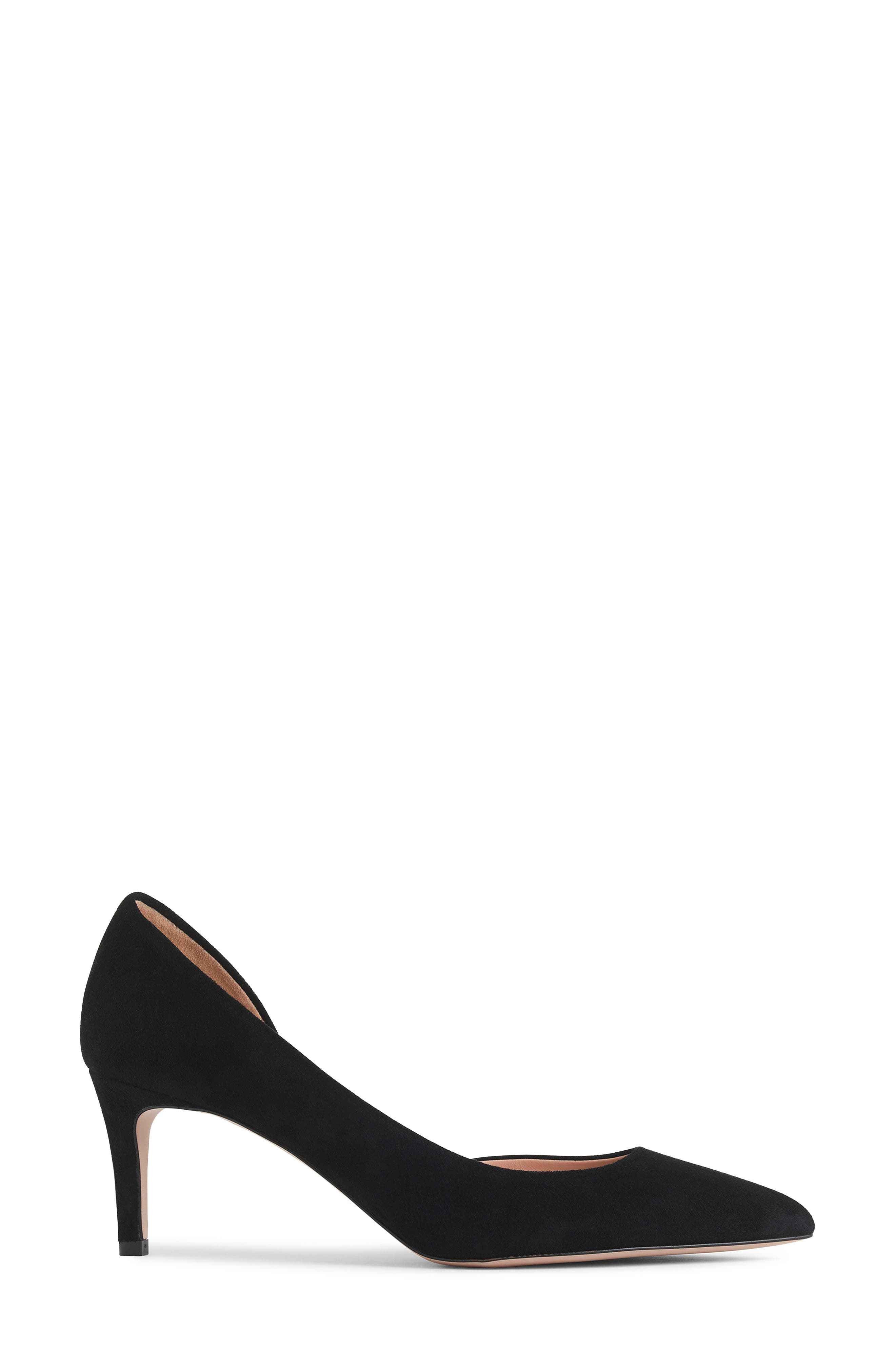,                             Lucie d'Orsay Pump,                             Alternate thumbnail 2, color,                             BLACK LEATHER