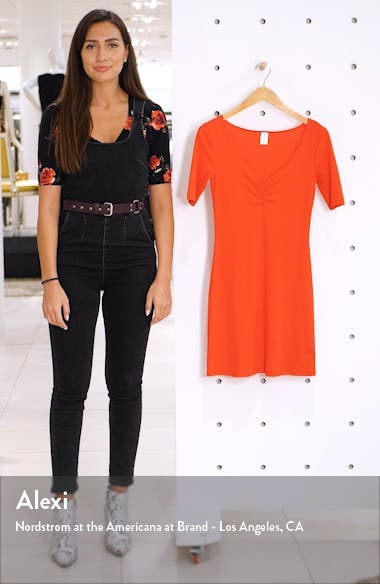 x Claudia Sulewski Shirred Front Ribbed Minidress, sales video thumbnail