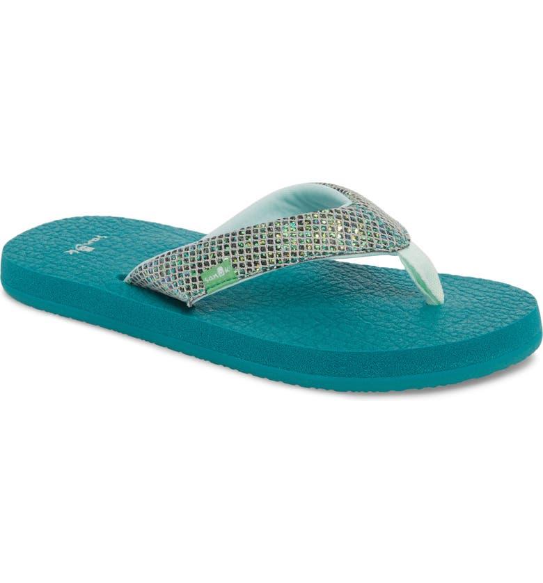 SANUK 'Yoga' Glitter Sandal, Main, color, 330