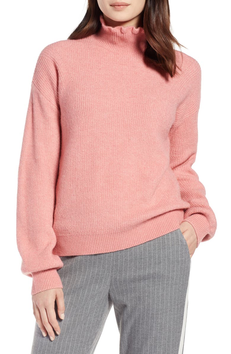 HALOGEN<SUP>®</SUP> Ruffle Neck Sweater, Main, color, 660