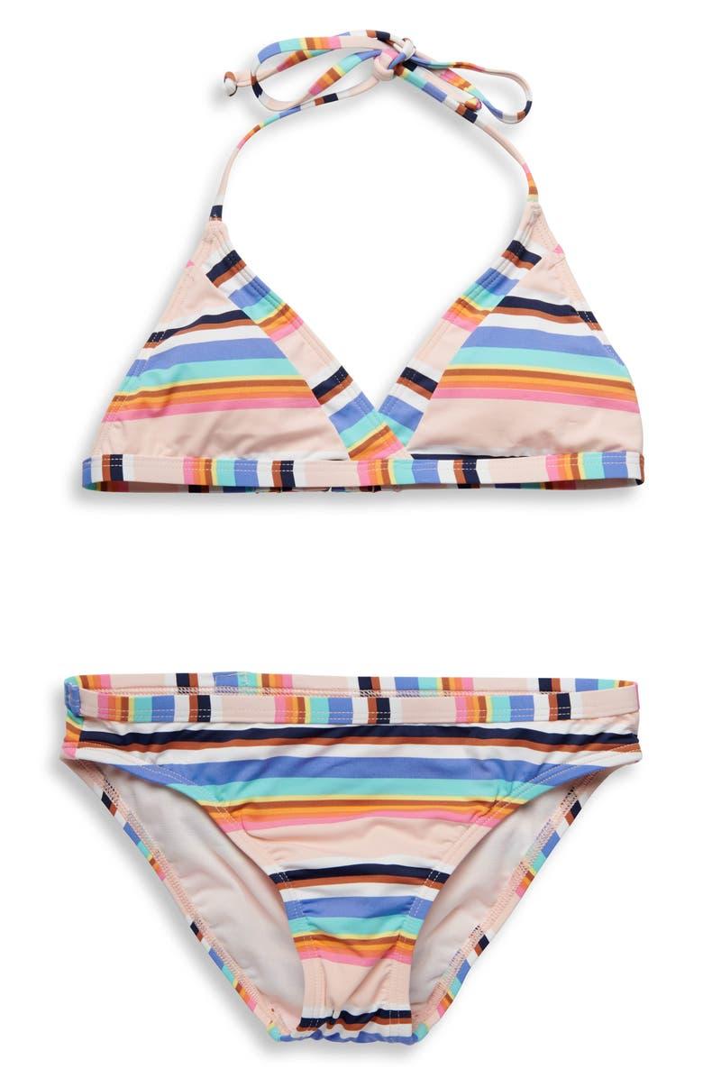 HOBIE Stripe Two-Piece Swimsuit, Main, color, 400