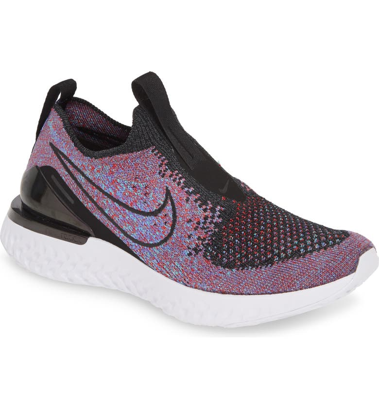 NIKE Epic Phantom React Flyknit Running Shoe, Main, color, 002