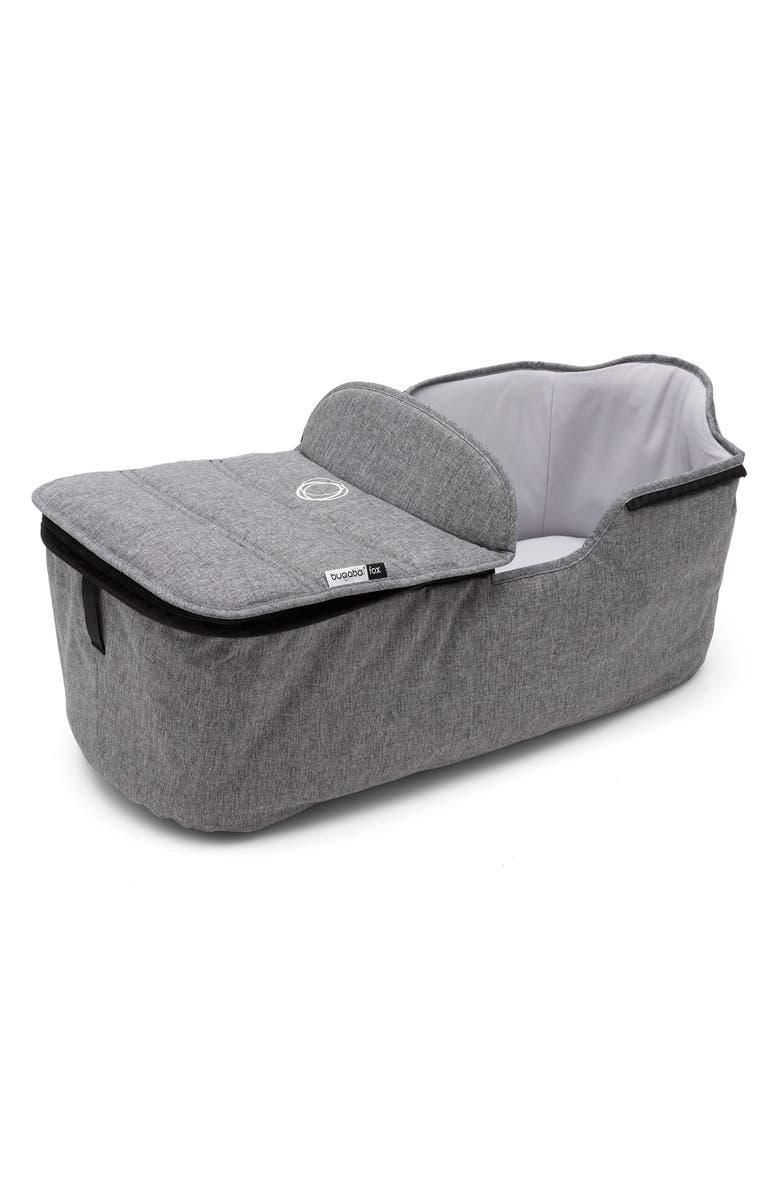 BUGABOO Fox Stroller Bassinet Tailored Fabric Set, Main, color, GREY MELANGE