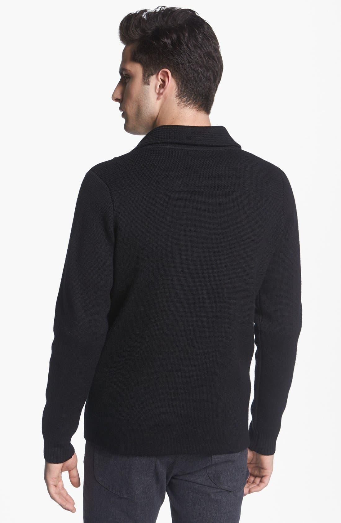 ,                             Pea Coat Sweater,                             Alternate thumbnail 3, color,                             001