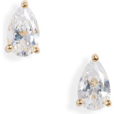 Nordstrom Pear Cut Cubic Zirconia Stud Earrings