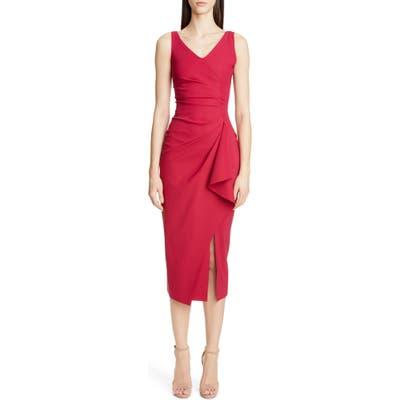 Chiara Boni La Petite Robe Kloty Ruched Midi Dress, US / 52 IT - Pink