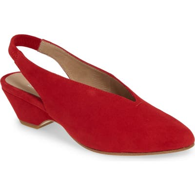 Eileen Fisher Gatwick Slingback Pump- Red