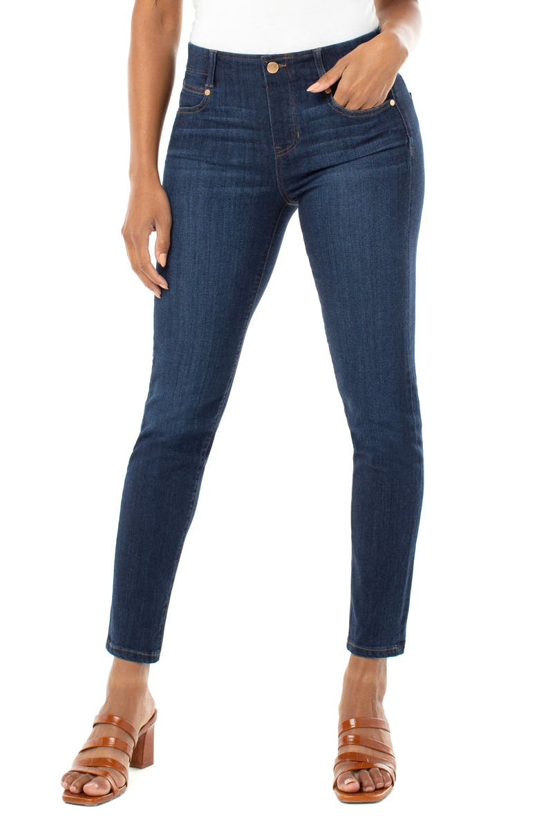 LIVERPOOL Gia Glider Pull-On Skinny Jeans, Main, color, DORSEY