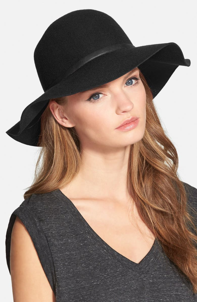 NORDSTROM Floppy Wool Hat, Main, color, 001
