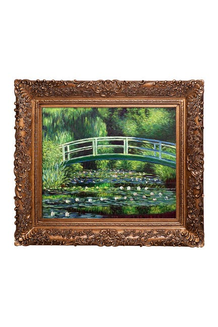 Image of Overstock Art Japanese Bridge by Claude Monet Framed Hand Painted Oil on Canvas
