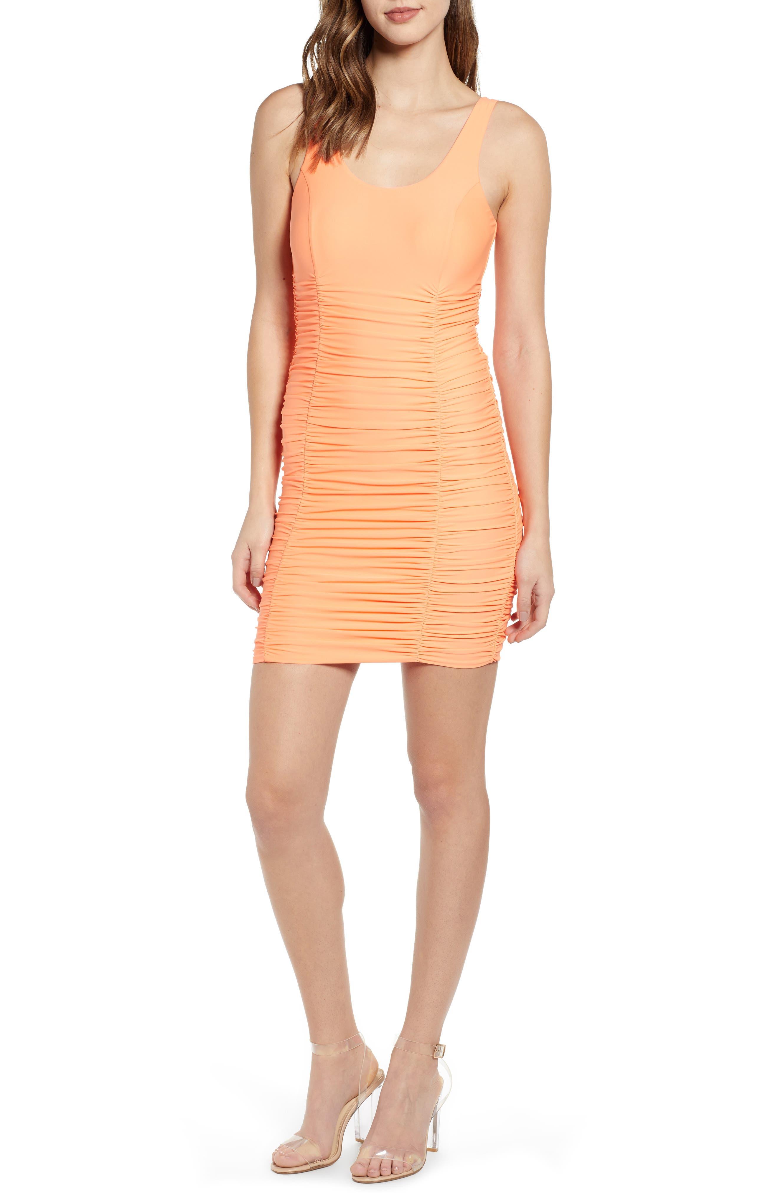 Tiger Mist Santa Clara Body-Con Dress, Orange