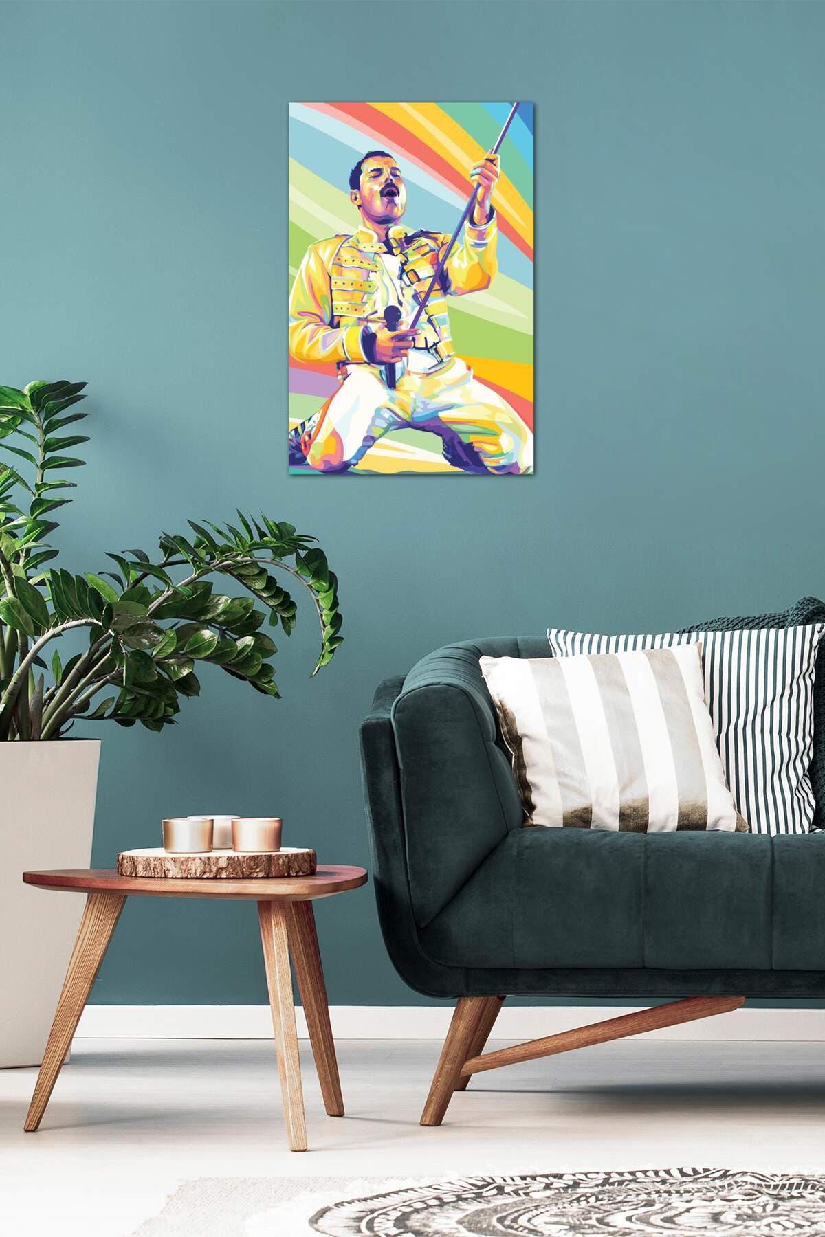 Image of iCanvas Freddie Mercury on Stage by Dayat Banggai Canvas Art