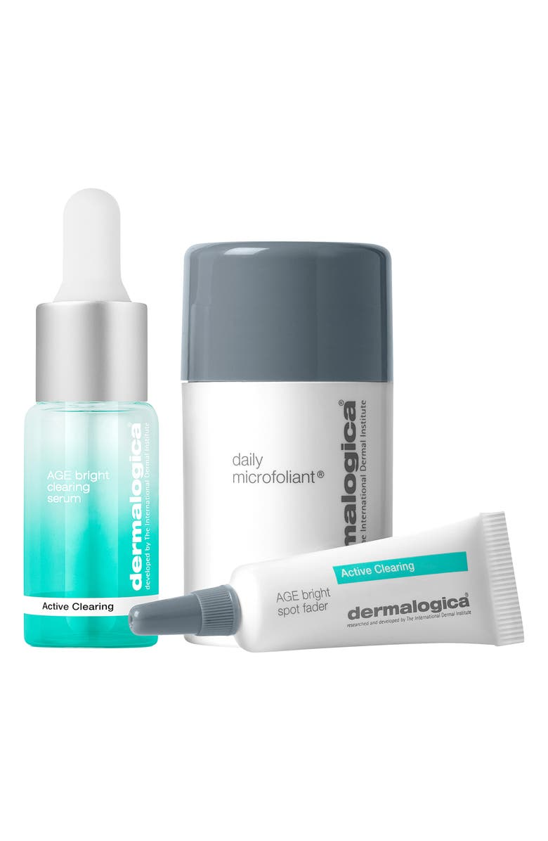 DERMALOGICA<SUP>®</SUP> Travel Size Clear + Brighten Set, Main, color, 000