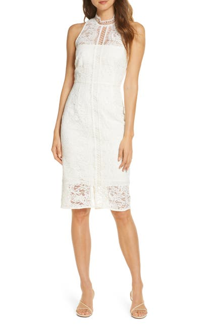 Image of Eliza J Illusion Lace Cocktail Dress