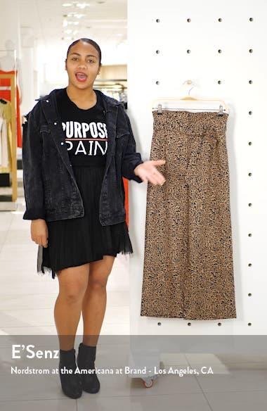 Jackie Belted High Waist Crop Linen Pants, sales video thumbnail