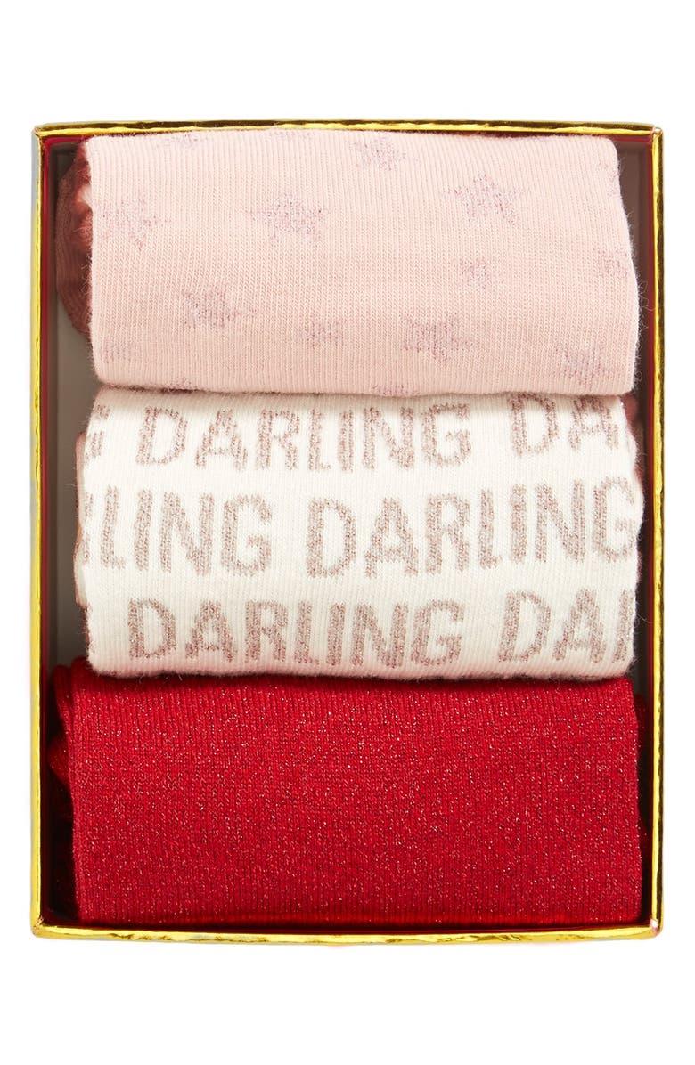 KATE SPADE NEW YORK 'day' boxed socks, Main, color, 600