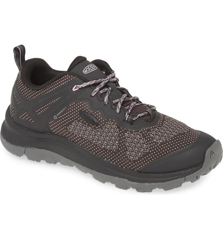KEEN Terradora II Vent Hiking Shoe, Main, color, BLACK/ STEEL GREY FAUX LEATHER