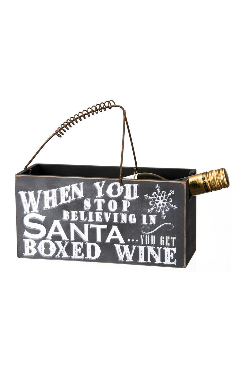 PRIMITIVES BY KATHY 'When You Stop Believing' Wine Caddy, Main, color, 001