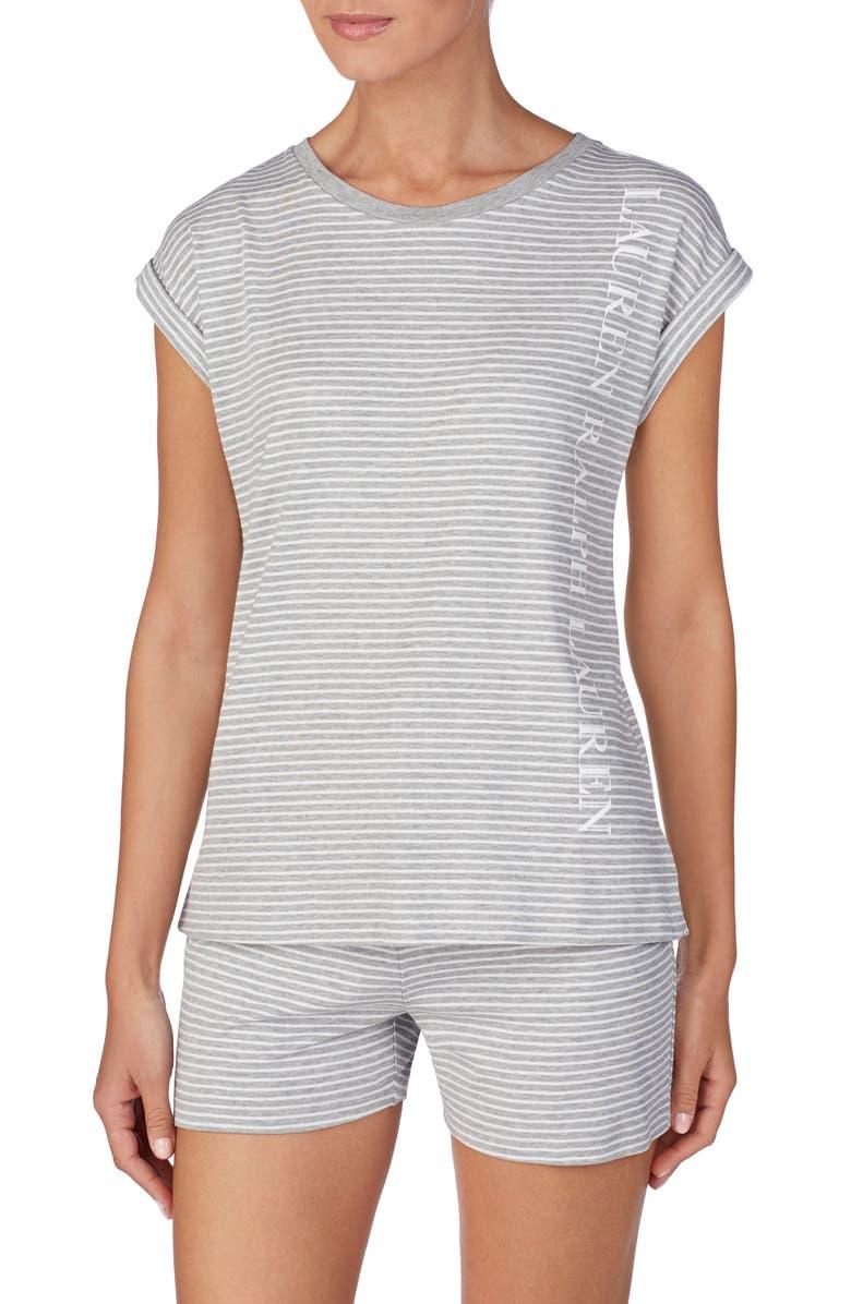 LAUREN RALPH LAUREN Knit Pajama Top, Main, color, 020
