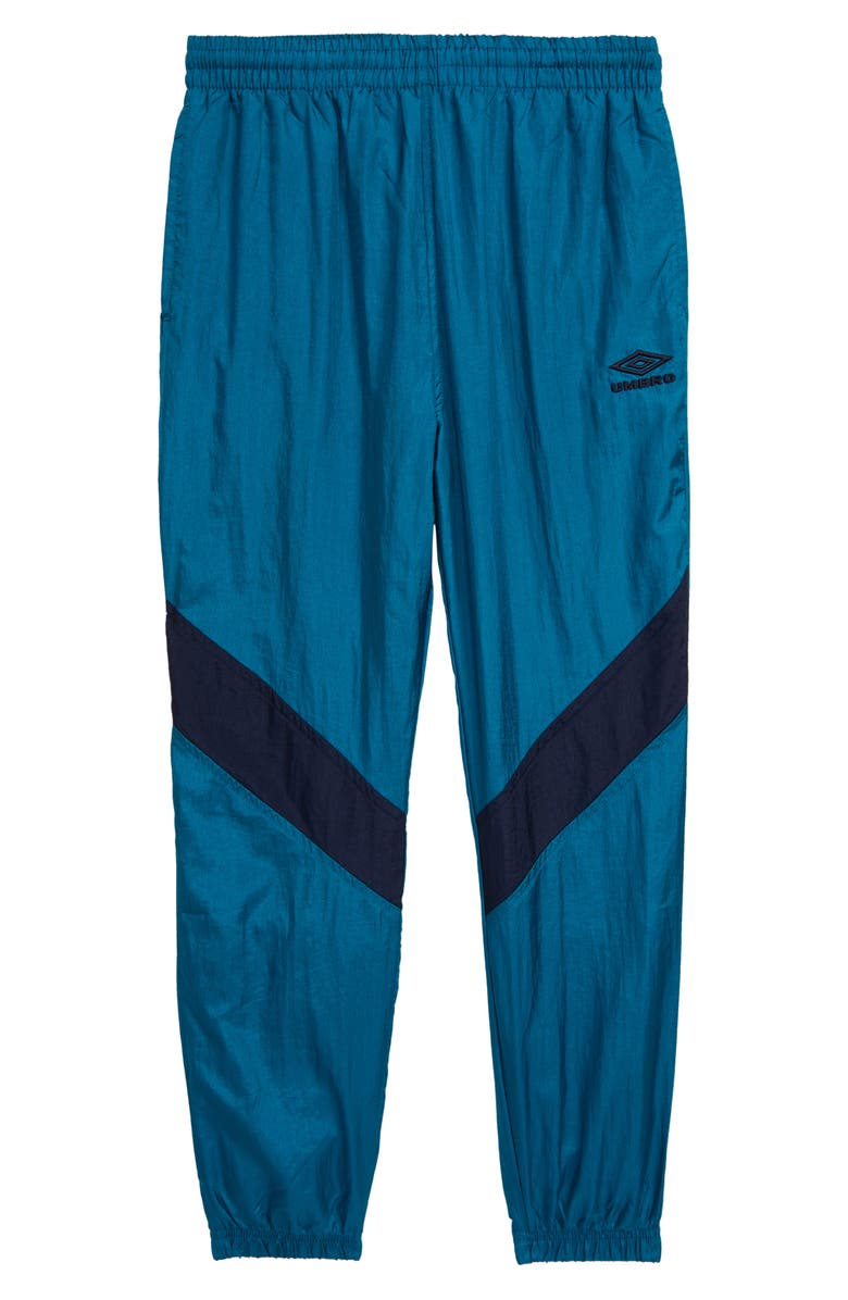 UMBRO Retro Wind Pants, Main, color, TEAL/ NAVY