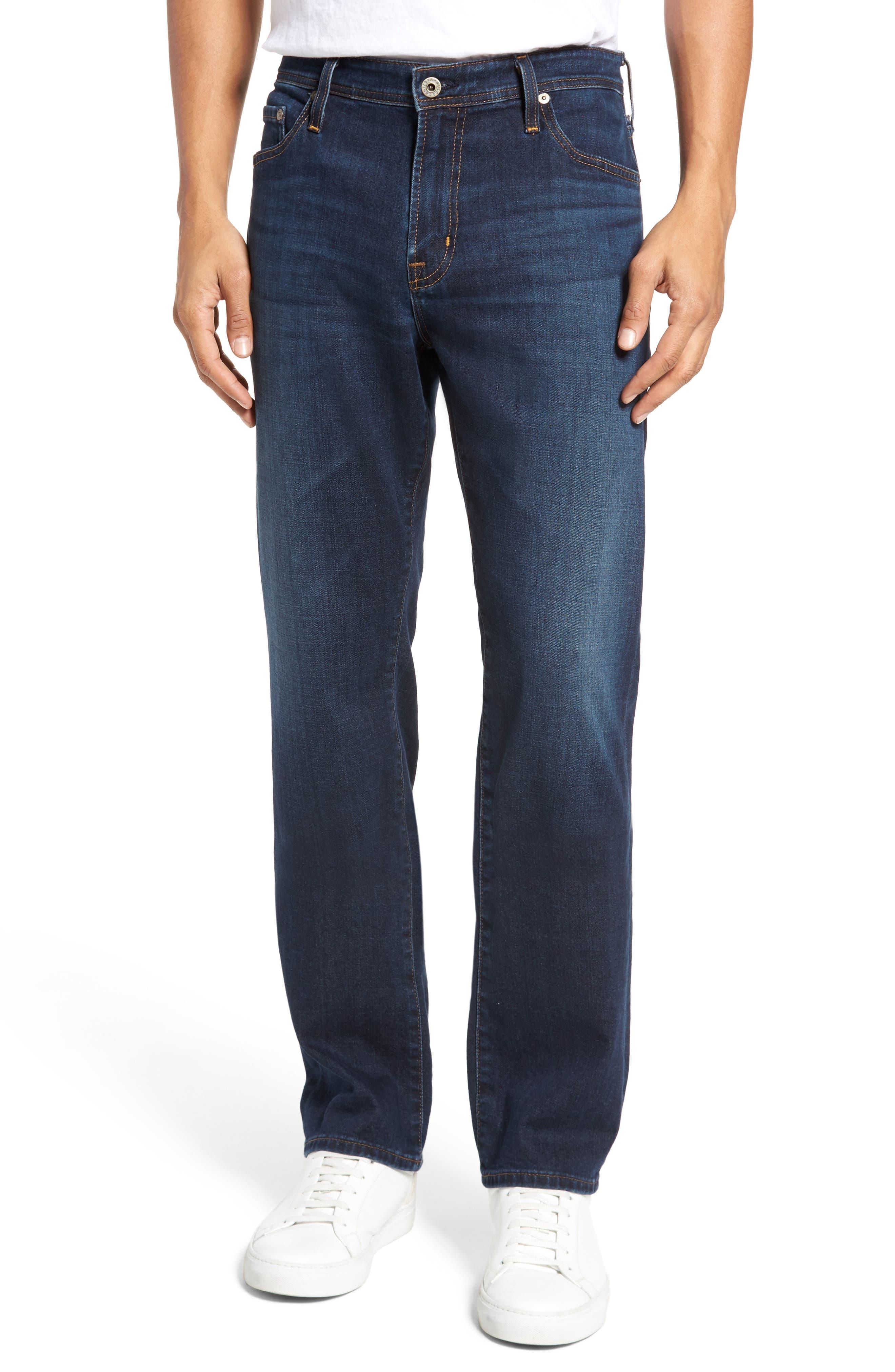 Everett Slim Straight Leg Jeans, Main, color, WITNESS