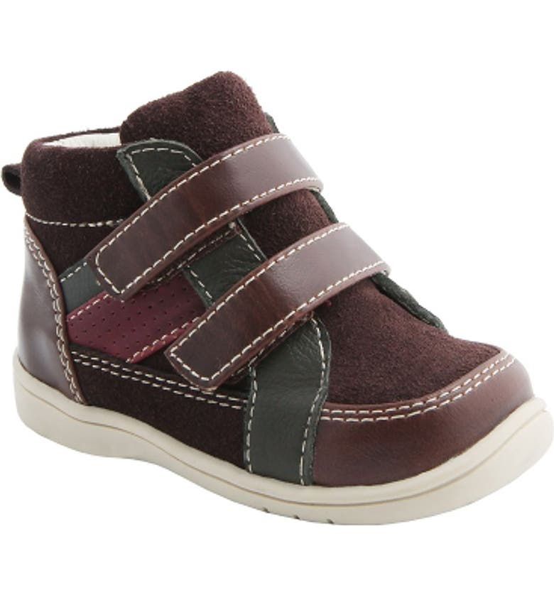 NINA 'Cairo' High Top Sneaker, Main, color, BROWN SUEDE