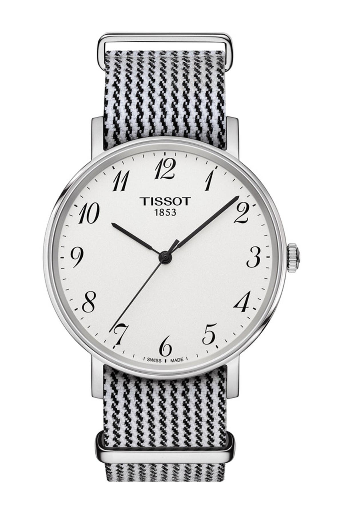 Image of Tissot Men's Every Time Textile Strap Watch, 38mm