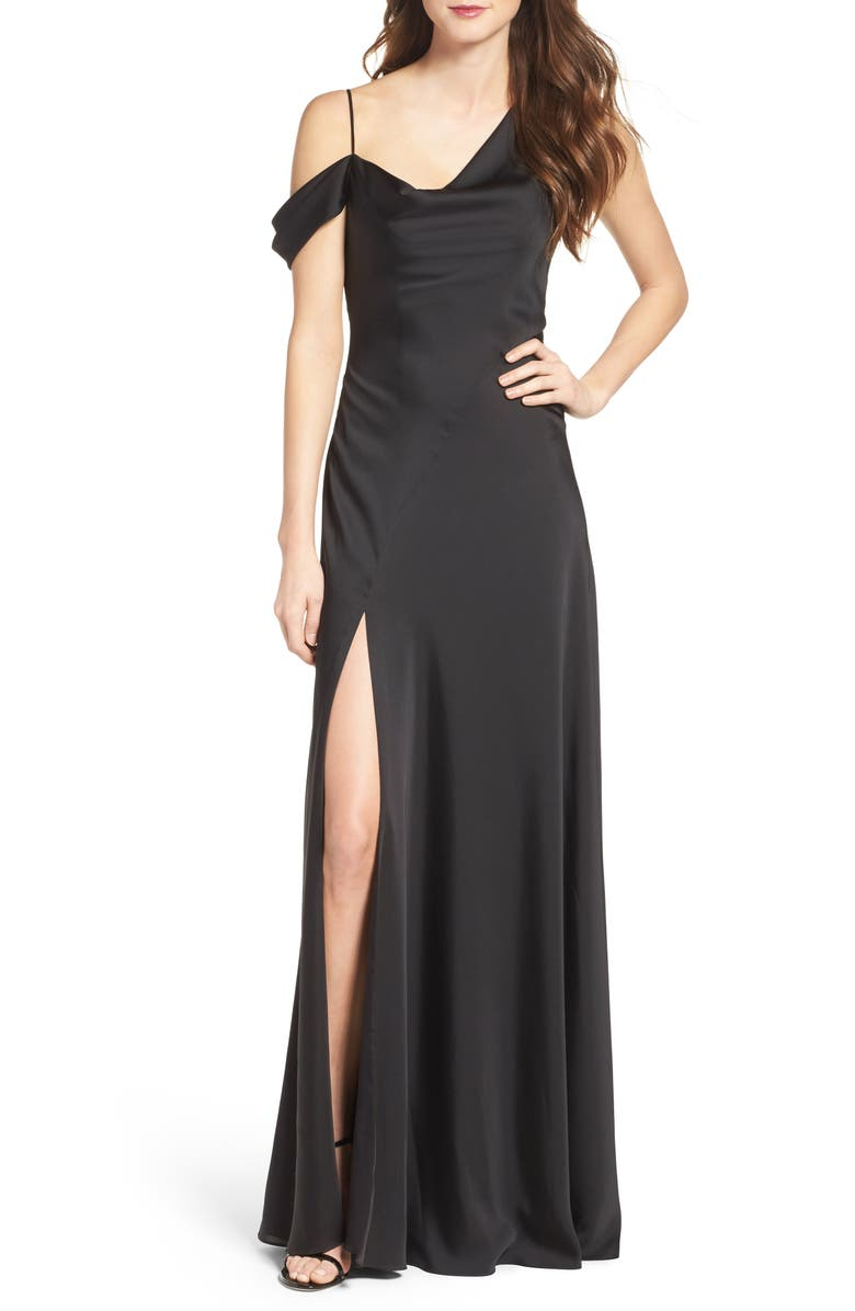 JILL JILL STUART One-Shoulder Gown, Main, color, 001