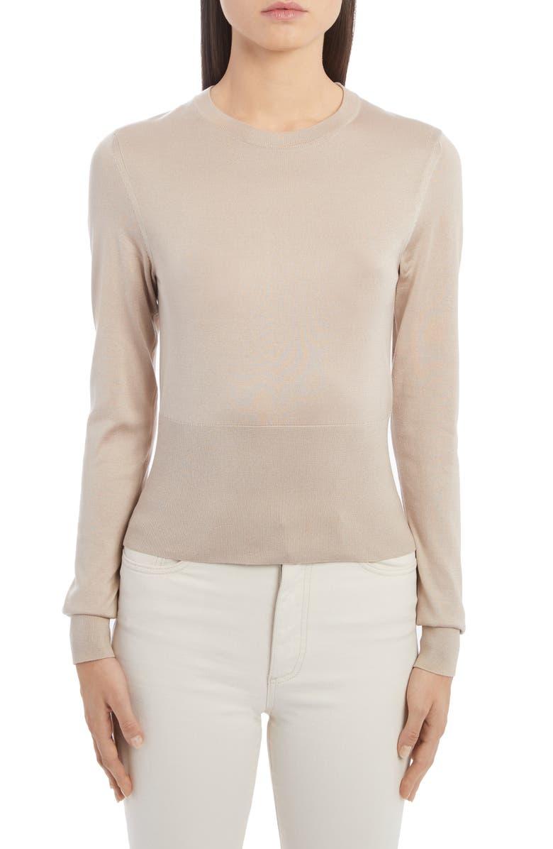 DOLCE&GABBANA Silk Sweater, Main, color, 270