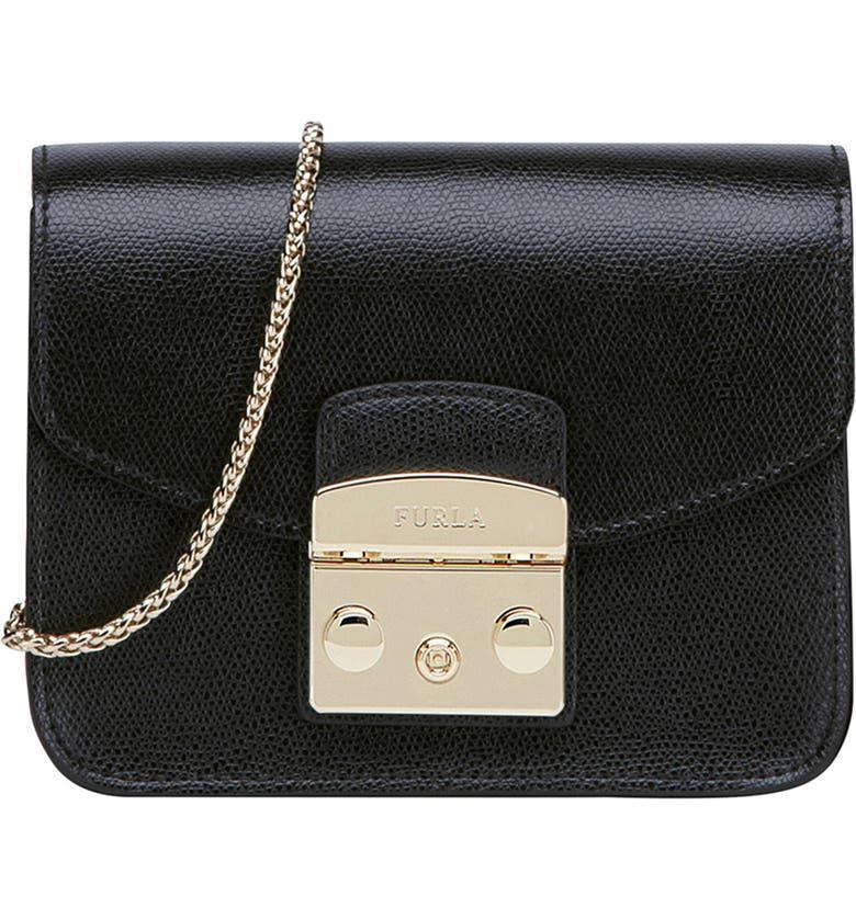 58151dcedf9 Furla Mini Metropolis Leather Crossbody Bag | Nordstrom