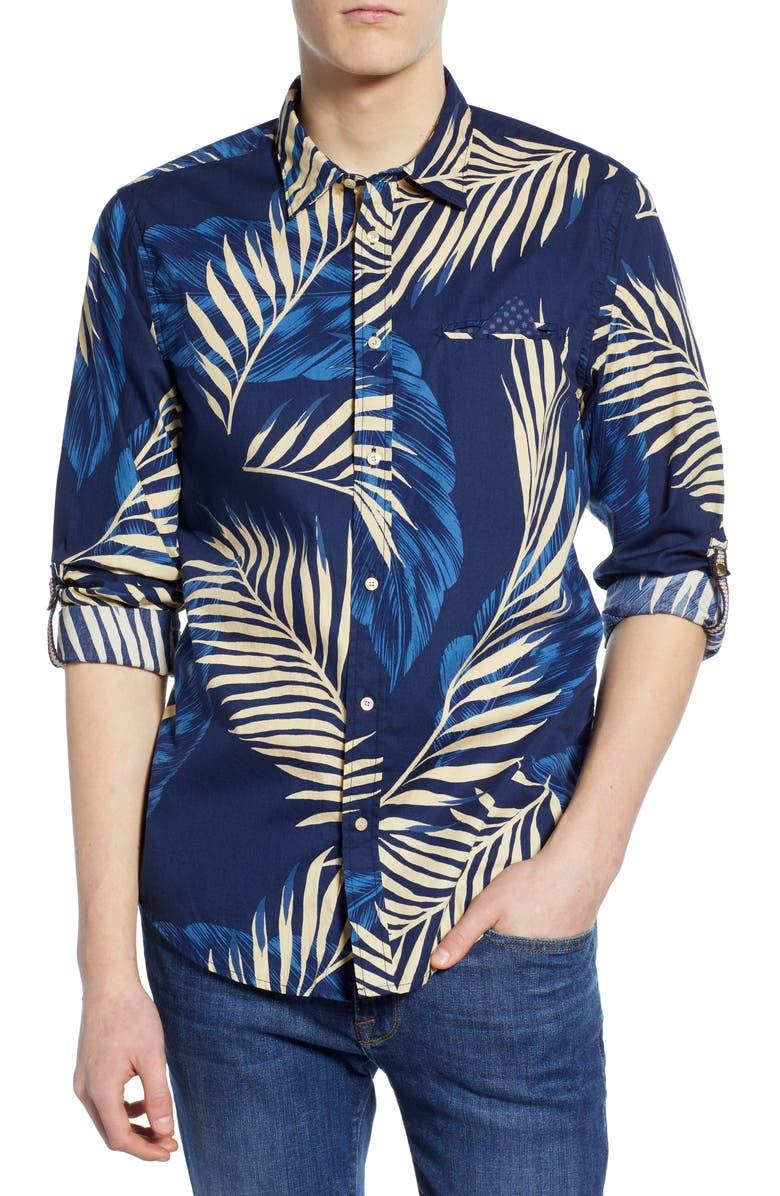 SCOTCH & SODA Slim Fit Patterned Shirt, Main, color, COMBO D