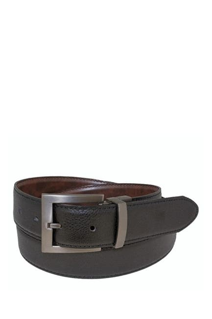 Image of BOSCA Reversible 35mm Stitched Edge Leather Belt