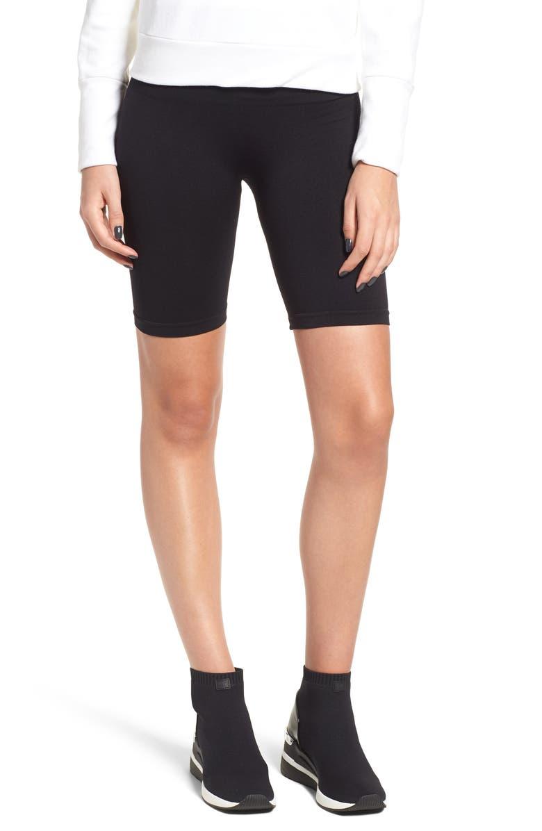DAVID LERNER Seamless Bike Shorts, Main, color, 001